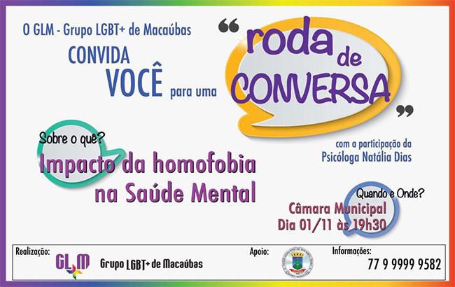 "Grupo LGBT+ de Macaúbas promoverá ""Roda de Conversa"""