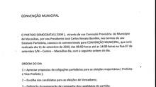 Democratas de Macaúbas convoca para Convenção