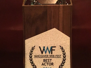 Jarod Joseph 'Best Actor' WIN Vancouver Web Fest