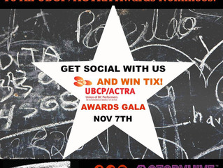 UBCP/ACTRA Award Nomination for Jarod Joseph! Win 2 tickets to the Awards!