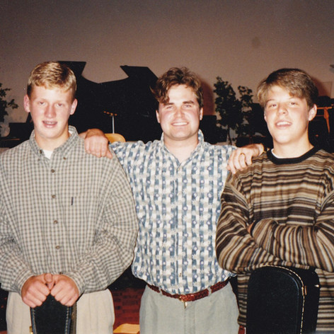 Reacital, 1995. Me with two advanced students.