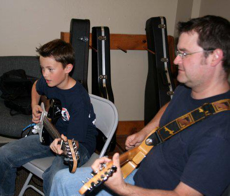 Electric guitar lessons! 2009.