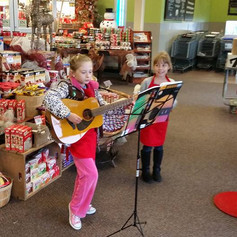 Student performing at Christmas!