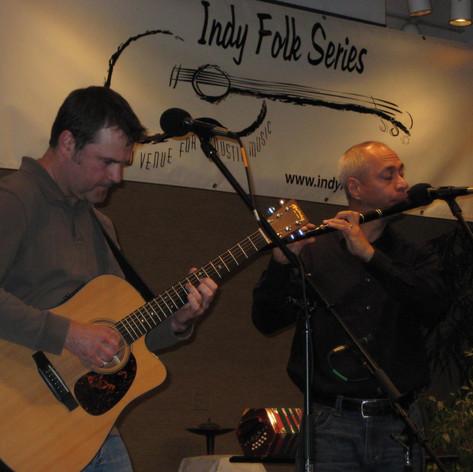Performing at Indy Folk Fest, 2009.