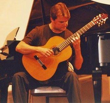 Performing onstage, 2000.