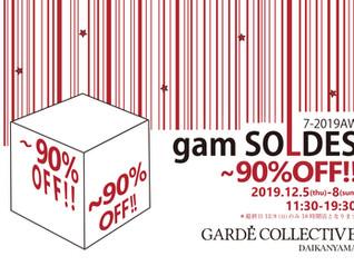 gam SOLDES 7-2019AW