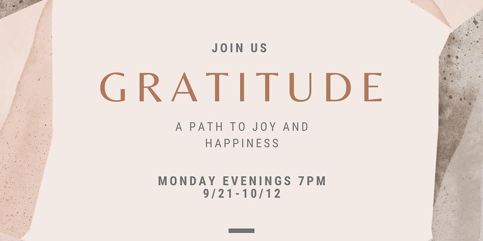 Gratitude- 4 Week Meditation Series w/Jamie