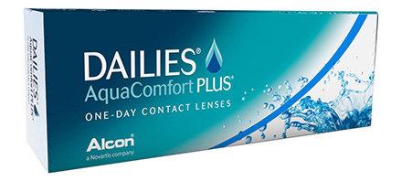 Dailies AquaComfort PLUS, da -0.75 a -6 .  contiene 30 lenti giornaliere