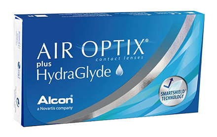 AIR OPTIX* plus HydraGly, da -0.75 a -6.  contiene 3 lenti mensili