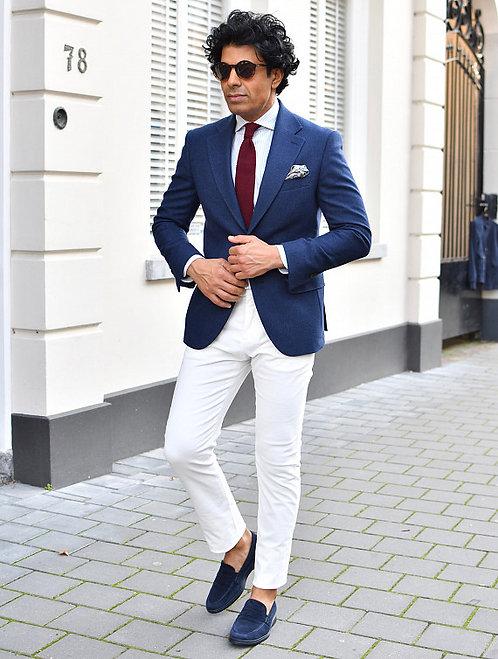 Chino Velours Bell Blanc Perle