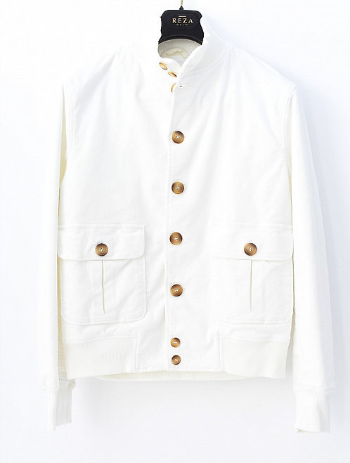 Blouson Velours Blanc perle