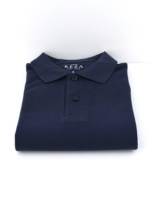 Polo Mads Manche Longue Bleu