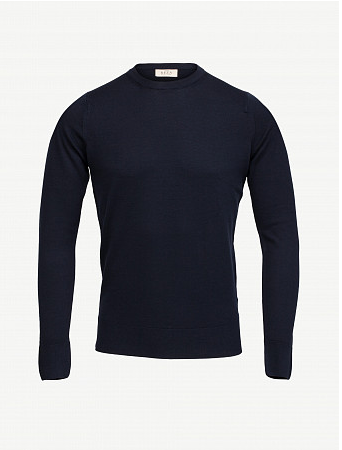 Pull Col Rond Cousteau Bleu Navy
