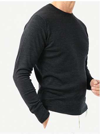 Pull Col rond Cousteau Gris Anthracite