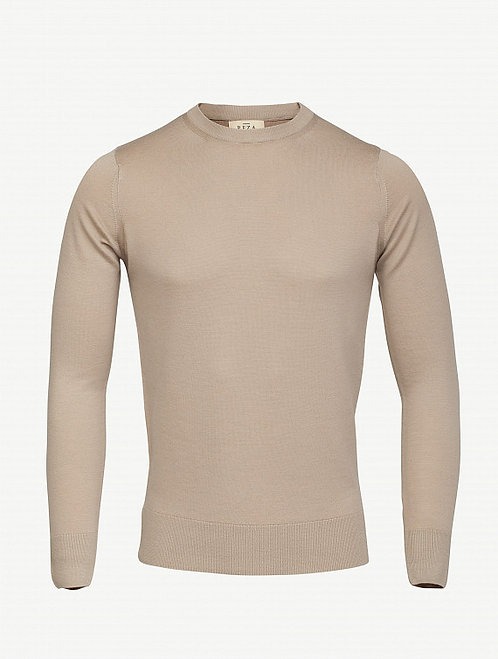 Pull Col Rond Cousteau Taupe