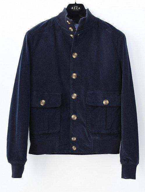 Blouson Velours Bleu Navy