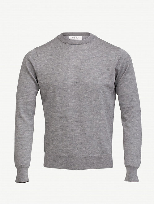 Pull Col Rond Cousteau Gris Chiné