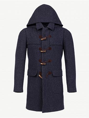 Duffle-coat Bleu Chiné