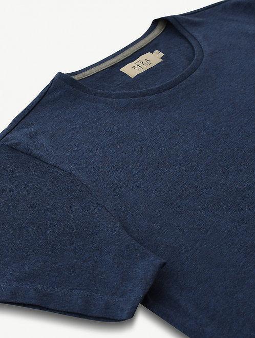 T-Shirt Drake Bleu Chiné