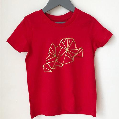 MY MONTREUIL t-shirt enfant or/couleur