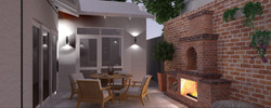 Subiaco Courtyard & Fireplace Design