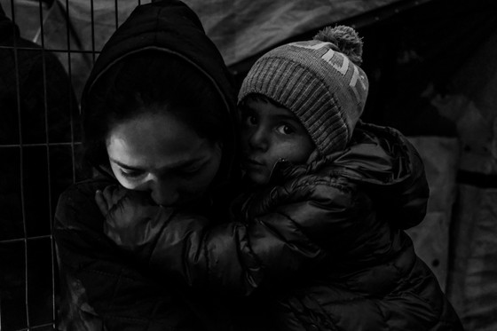 """""""We did not know about the camp in Lesvos. We did not think Europe was like that. We left our homes and now we live in tents.  We thought about the future of the children. If we knew what it will be like, we would not come."""" - Mariam, 27-year-old Afghan born in Iran."""