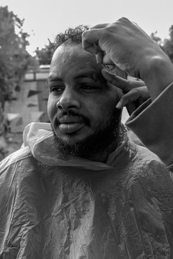 """""""This is not life, it is vegetation."""" - said Mohamad (29), a Somali man who lives in Moria for a year, during a short conversation  while his colleague was cutting his hair."""