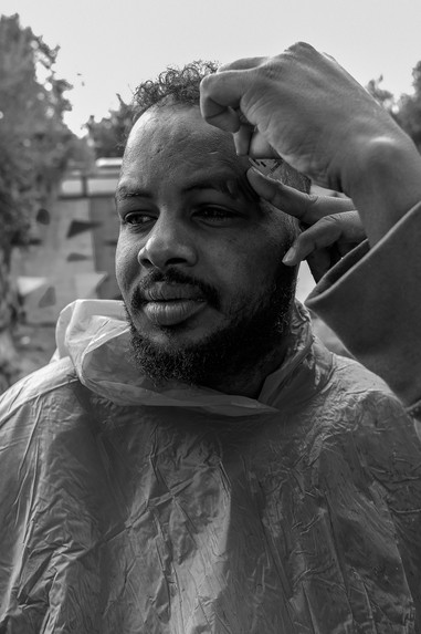 """This is not life, it is vegetation."" - said Mohamad (29), a Somali man who lives in Moria for a year, during a short conversation  while his colleague was cutting his hair."