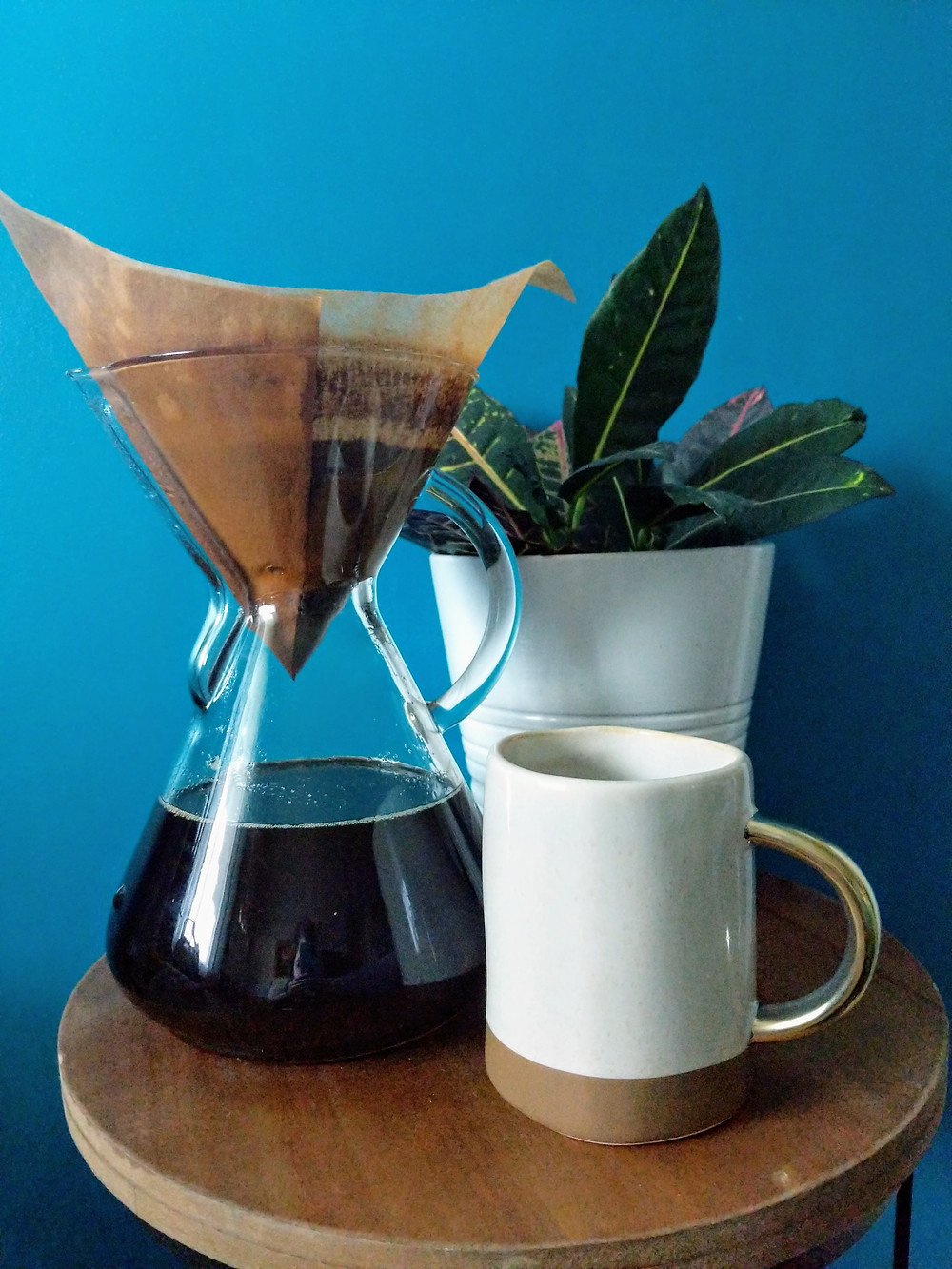 Chemex brewed coffee