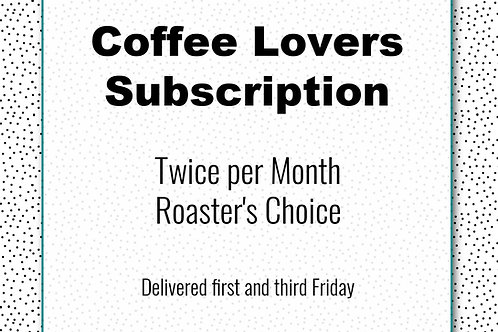 Coffee Lovers Subscription