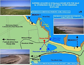 The House Site Location And The Nearby Beaches