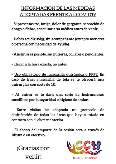 INFORMACIÓN DE LAS MEDIDAS ADOPTADAS FRE