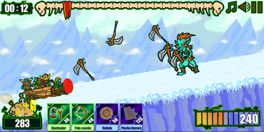 Ice winds, Troll pickaxes...