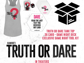 """Blumhouse's TRUTH OR DARE """"Game Night"""" Prize Pack Giveaway"""