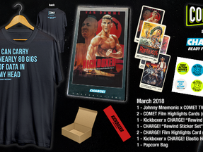 Comet TV & Charge! March Prize Pack Featuring Johnny Mnemonic & Kickboxer Goodies!