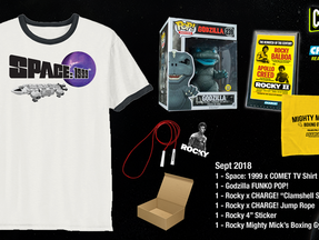 COMET TV & CHARGE! September Giveaway - Rocky, Godzilla, Space: 1999, OH MY!