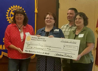 Skookum Rotary awards $500 Grant