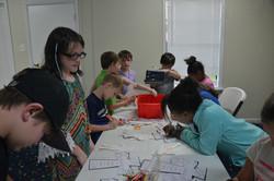 UBH Kids doing craft