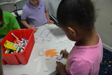 UBH Kids doing crafts