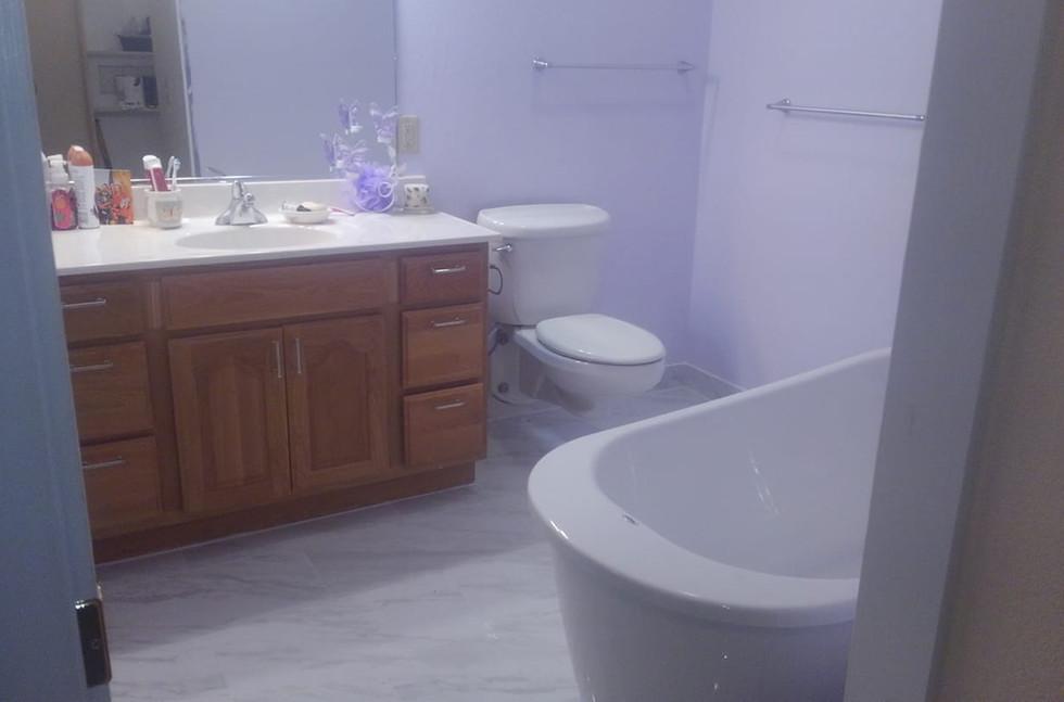 After bathroom flooring