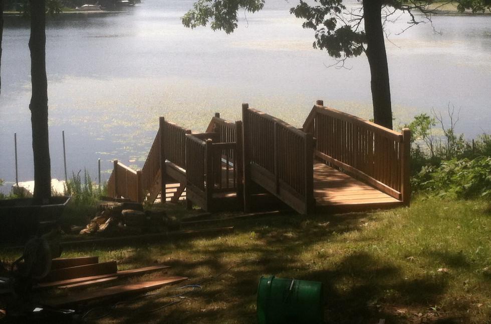 Lake steps