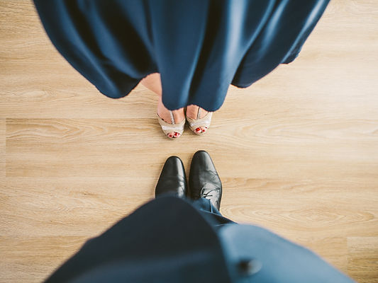 Couple Looking Down