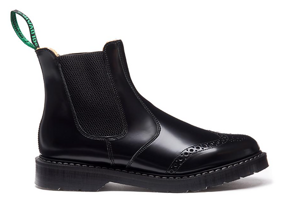 Black Hi-Shine Punched Dealer Boot