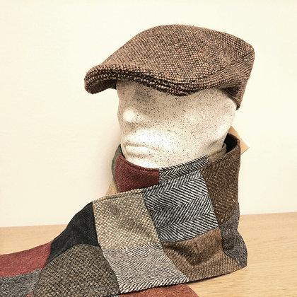 Hanna Hats -tweed-lätsä, yksivärinen ruskea