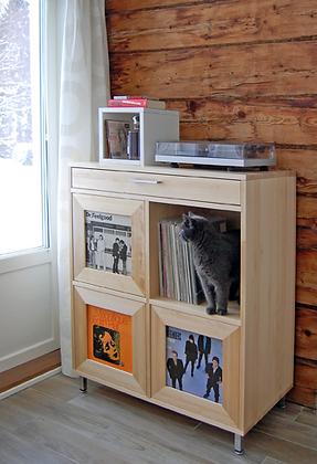 OLOS-levykaappi, record cabinet