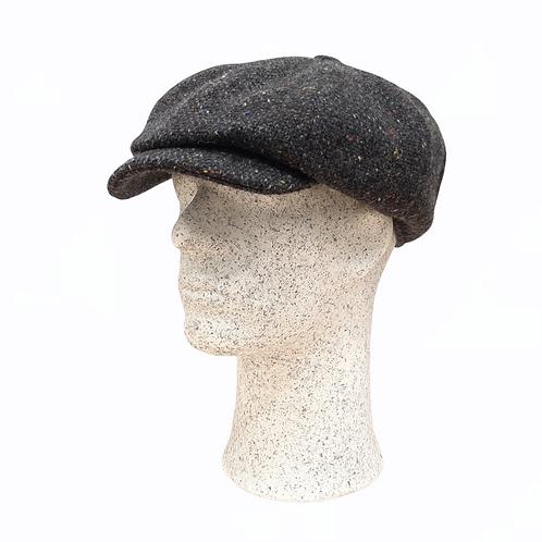 Hanna Hats -tweed-lakki tumman harmaa yksivärinen