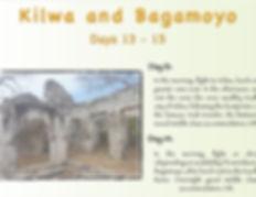 Kilwa and Bagamoyo tour