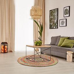 runder Teppich,Sevilla, bunt, retro, Einrichtung