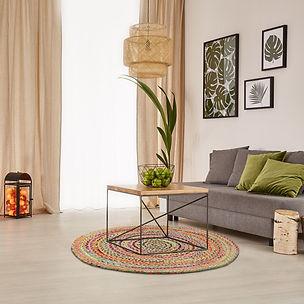 Runder Teppich, rug, rug it, Jute, Innenausstattung, retro, vintage, Instagram