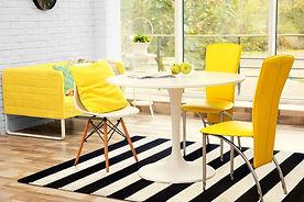 schwarz-weiß, Teppich, gestreift, rug it, recycling, Küche, Ausstattung